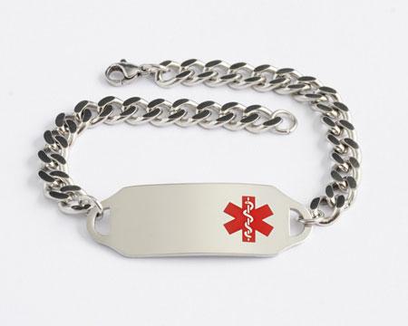 Med ID Bracelet open